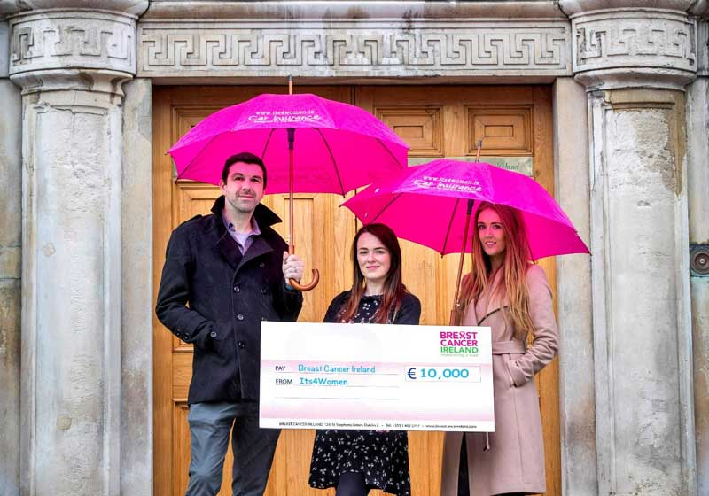 Its4women.ie raise over €108,000 for Breast Cancer Ireland over the past four years