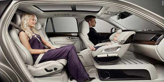 Volvo's new baby seat in the front